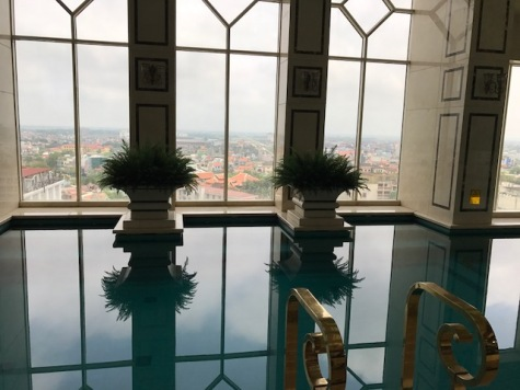 Our Indoor pool overlooking Hue